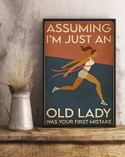 Running I'm Just An Old Lady 16x24 Poster lifestyle-poster-3
