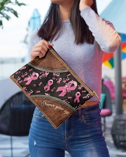 Breast Never Give Up Leather pattern printing Accessory Pouch - Large aos-accessory-pouch-12-5x8-5-lifestyle-front-01