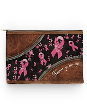 Breast Never Give Up Leather pattern printing Accessory Pouch - Large front