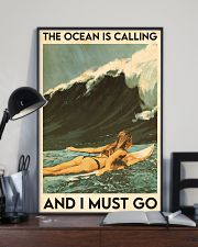 Surfing The Ocean Is Calling 16x24 Poster lifestyle-poster-2