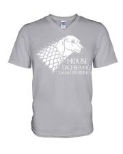 House dachshund V-Neck T-Shirt thumbnail