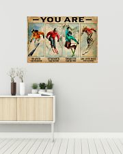 Skiing You Are Brave 36x24 Poster poster-landscape-36x24-lifestyle-01