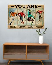 Skiing You Are Brave 36x24 Poster poster-landscape-36x24-lifestyle-21