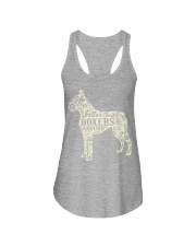 Life is better with boxers around Ladies Flowy Tank tile