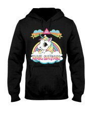 Unicorn Hail Satan Hooded Sweatshirt front