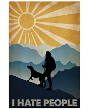 Hiking I Hate People 16x24 Poster front