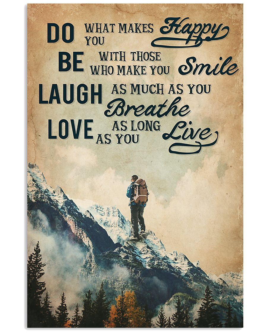 Hiking Laugh Love Live 16x24 Poster