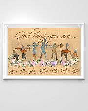 Gym God Says You Are 36x24 Poster poster-landscape-36x24-lifestyle-02