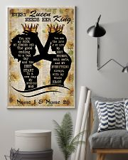 Family Every Queen Needs Her King 24x36 Poster lifestyle-poster-1