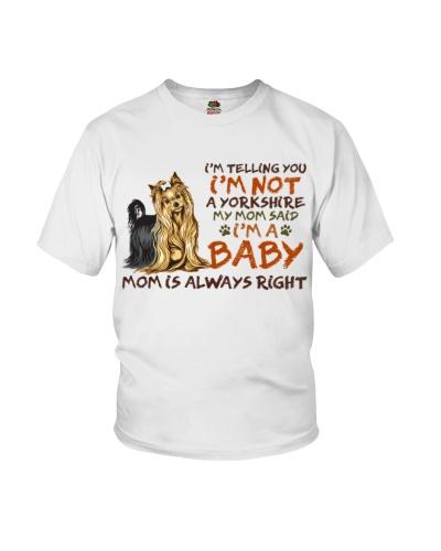 Dog Yorkshire I'm A Baby
