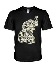 Life is better with elephant around V-Neck T-Shirt thumbnail
