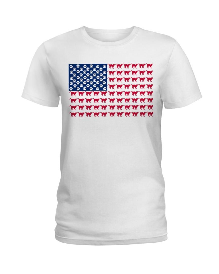 cat flag Ladies T-Shirt