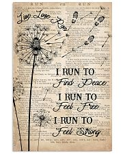Running I Run To Find Peace 16x24 Poster front