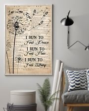 Running I Run To Find Peace 16x24 Poster lifestyle-poster-1