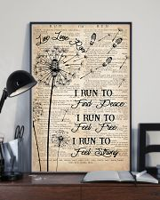 Running I Run To Find Peace 16x24 Poster lifestyle-poster-2