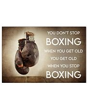 Boxing You Don't Stop Boxing 36x24 Poster front