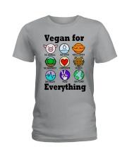 Vegan for everything Ladies T-Shirt tile