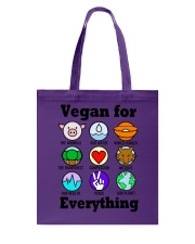 Vegan for everything Tote Bag thumbnail