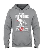 Only elephants Hooded Sweatshirt thumbnail
