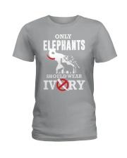 Only elephants Ladies T-Shirt thumbnail