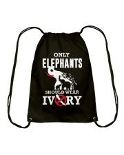 Only elephants Drawstring Bag thumbnail