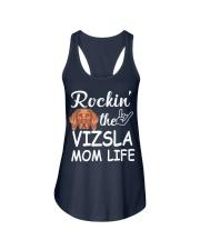 vizsla mom life Ladies Flowy Tank front