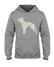Life is better with american bulldogs around Hooded Sweatshirt tile