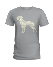 Life is better with american bulldogs around Ladies T-Shirt tile
