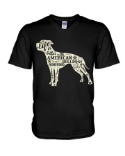Life is better with american bulldogs around V-Neck T-Shirt thumbnail
