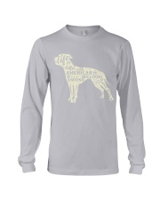 Life is better with american bulldogs around Long Sleeve Tee tile