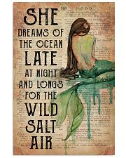 Mermaid She Dreams Of The Ocean 16x24 Poster front