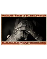 Boxing Hate Every Minite Of Training 36x24 Poster front