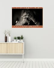 Boxing Hate Every Minite Of Training 36x24 Poster poster-landscape-36x24-lifestyle-01
