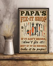Family papa's Fix-it Shop 16x24 Poster lifestyle-poster-3