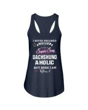 Super sexy dachshund Ladies Flowy Tank front