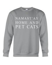 Namast'ay home and pet cat Crewneck Sweatshirt thumbnail