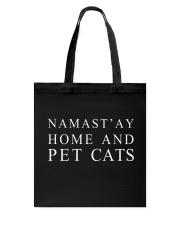 Namast'ay home and pet cat Tote Bag thumbnail