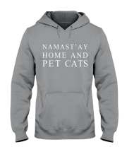 Namast'ay home and pet cat Hooded Sweatshirt tile