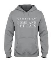 Namast'ay home and pet cat Hooded Sweatshirt thumbnail