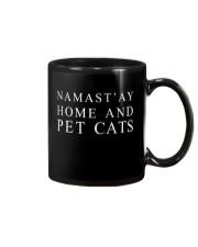 Namast'ay home and pet cat Mug thumbnail