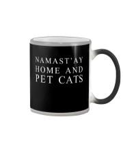 Namast'ay home and pet cat Color Changing Mug thumbnail