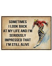 Skiing Sometimes I Look Back At My Life 36x24 Poster front
