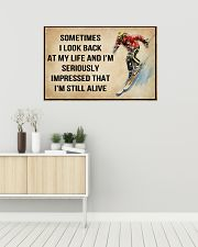 Skiing Sometimes I Look Back At My Life 36x24 Poster poster-landscape-36x24-lifestyle-01
