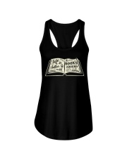 Life is better with books around Ladies Flowy Tank front