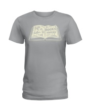 Life is better with books around Ladies T-Shirt thumbnail