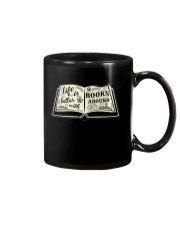 Life is better with books around Mug thumbnail