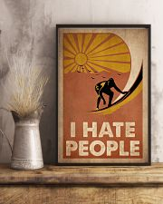Surfing I Hate People 16x24 Poster lifestyle-poster-3