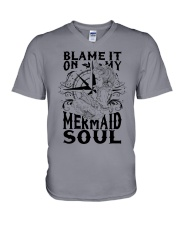 Blame it on my Mermaid Soul V-Neck T-Shirt thumbnail