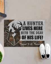 "Hunting A Hunter Lives Here Doormat 34"" x 23"" aos-doormat-34-x-23-lifestyle-front-07"