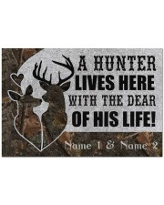 "Hunting A Hunter Lives Here Doormat 34"" x 23"" front"